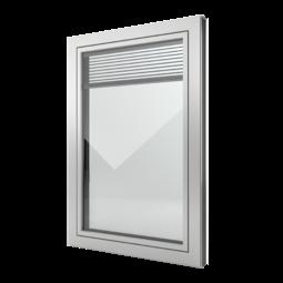 FIN-Window Slim-line Twin 77+8 Aluminium-Kunststof