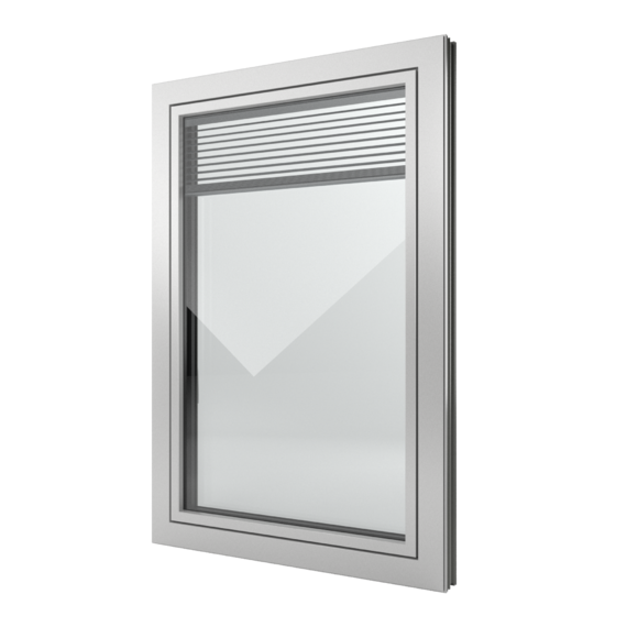 FIN-Window Slim-line Twin 77+8 Aluminium-Kunststof