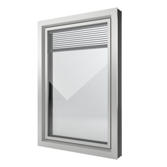 FIN-Window Slim-line Twin 124+3 Alluminio-PVC