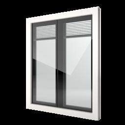 FIN-Window Nova-line Twin 90 Kunststoff-Kunststoff