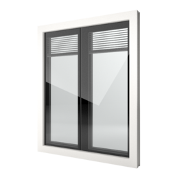 FIN-Window Nova-line Twin 90 Kunststof-Kunststof
