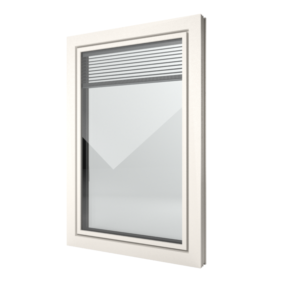 FIN-Window Slim-line Twin 90 PVC-PVC