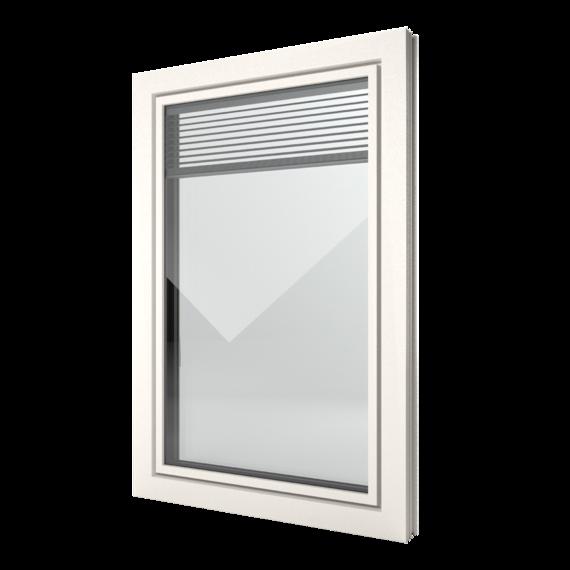 FIN-Window Slim-line Twin 90 Kunststof-Kunststof