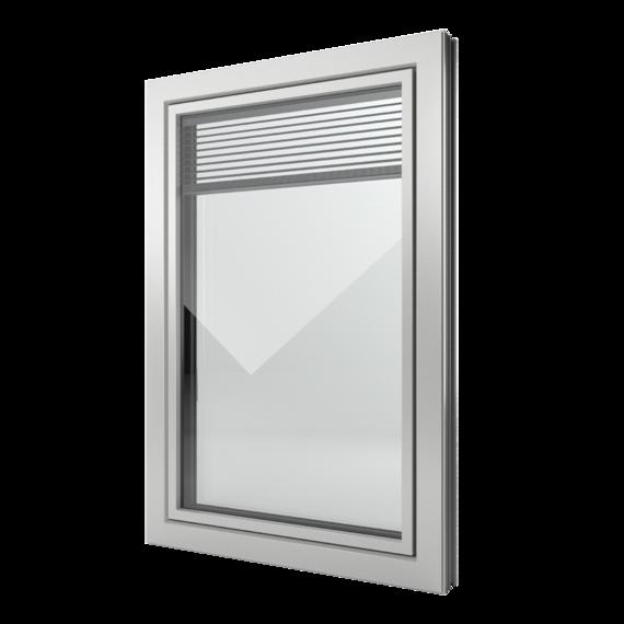 FIN-Window Slim-line Twin C 90+8 Aluminium-Kunststoff