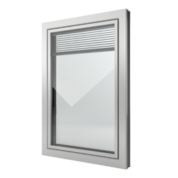 FIN-Window Slim-line Twin C 90+8 aluminium-PVC