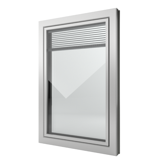 FIN-Window Slim-line Twin C 90+8 Aluminium-PVC