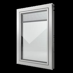 FIN-Window Slim-line Twin C 90+8 Aluminium-Kunststof