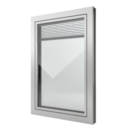 FIN-Window Slim-line Twin N 90+8 Aluminio-PVC