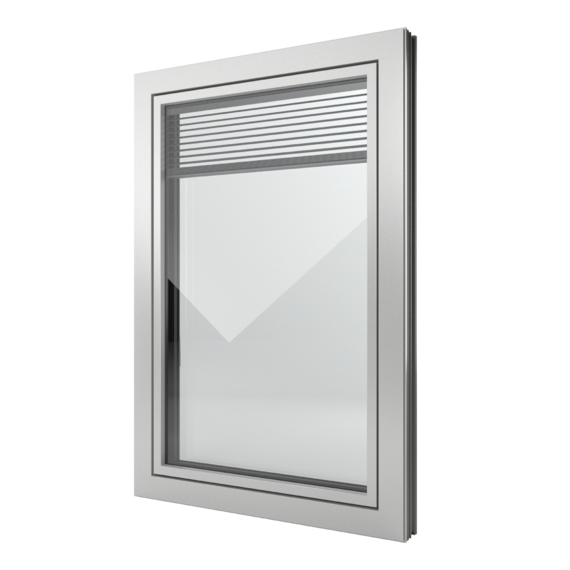 FIN-Window Slim-line Twin N 90+8 Aluminium-Kunststof