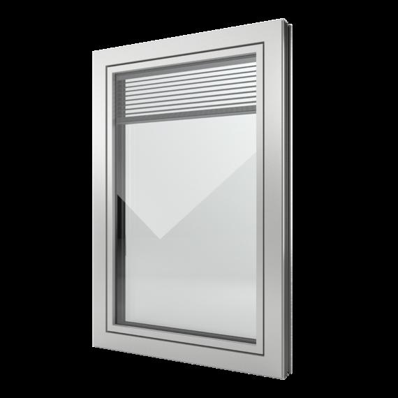 FIN-Window Slim-line Twin N 90+8 Aluminium-Kunststof
