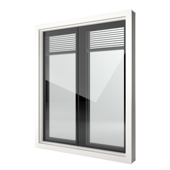 FIN-Window Nova-line Twin 124 Kunststoff-Kunststoff