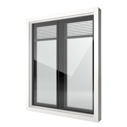 FIN-Window Nova-line Twin 124 Kunststof-Kunststof