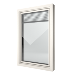 FIN-Window Slim-line Twin 124 PVC-PVC