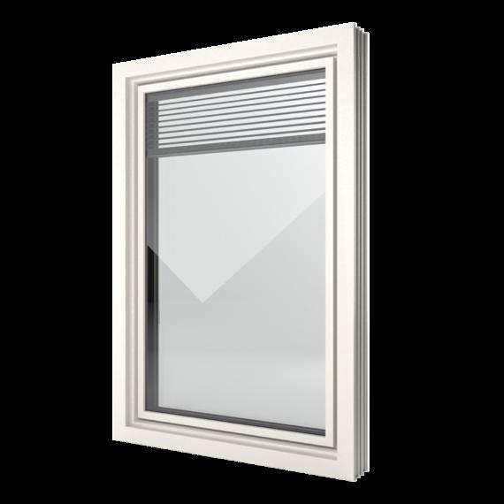 FIN-Window Slim-line Twin 124 PVC-PVC