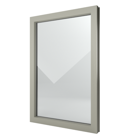 FIN-Window Festverglasung 90 Kunststoff-Kunststoff