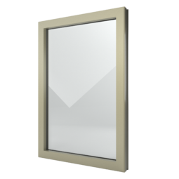 FIN-Window Festverglasung N 90+8 Aluminium-Kunststoff
