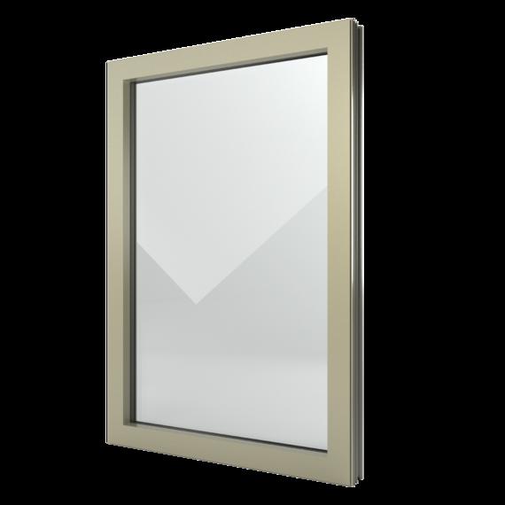 FIN-Window Elemento fijo N 90+8 Aluminio-PVC