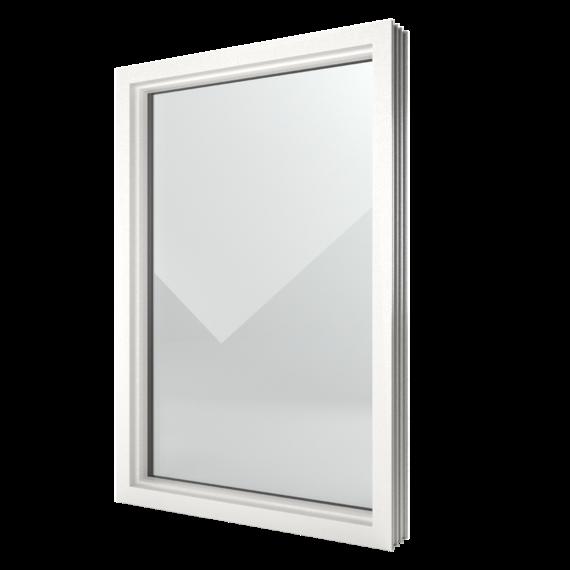 FIN-Window Châssis fixes 124 PVC-PVC