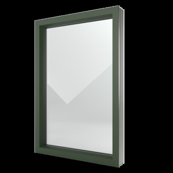 FIN-Window elemento fisso 124+3 Alluminio-PVC