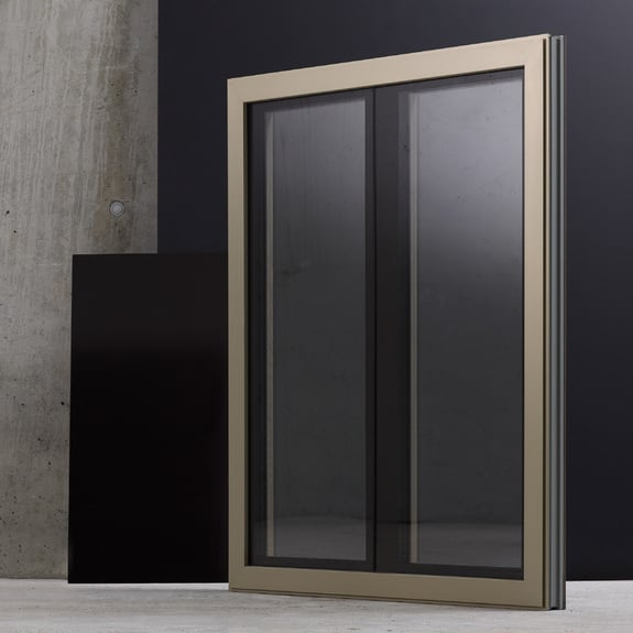 Ventanas con grandes superficies de vidrio: estética minimalista.