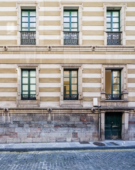 Edifício no centro histórico de Gijón
