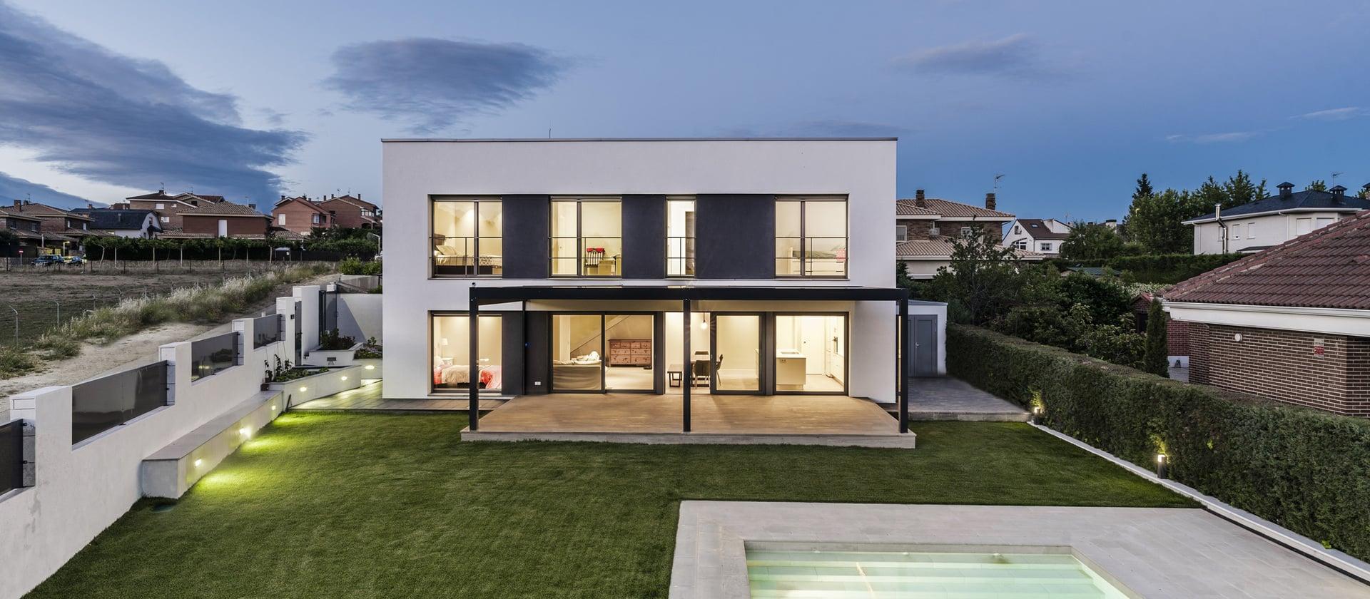 Passiefhuis bij Madrid