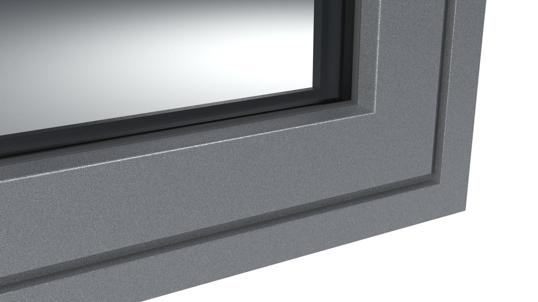 DB703 Antracite metálico estrutura fina