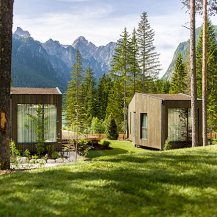 Skyview Chalets at the Camping Toblacher See