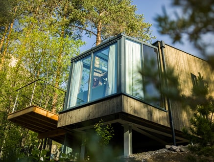 Skyview Chalets op Camping Toblacher See