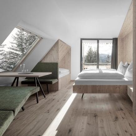 Refugio con vistas a los Dolomitas