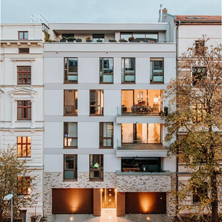L'immeuble Leibniz 47 à Magdebourg