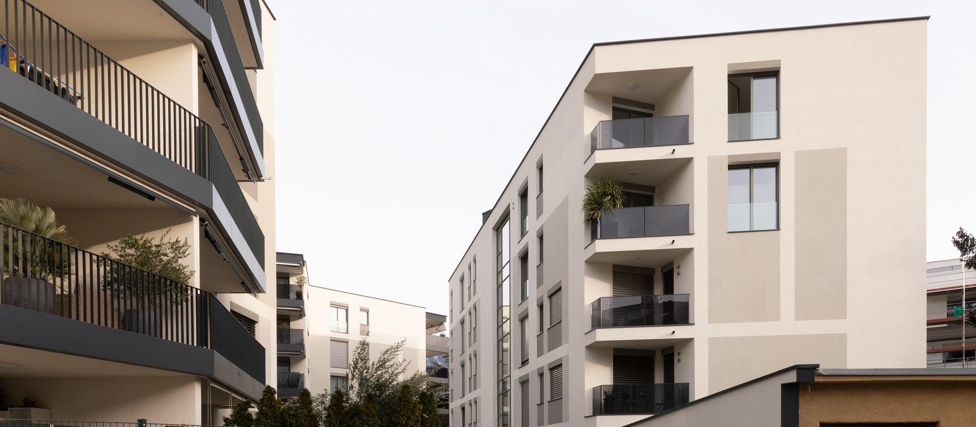 The Manzoni Garden apartment complex in Meran
